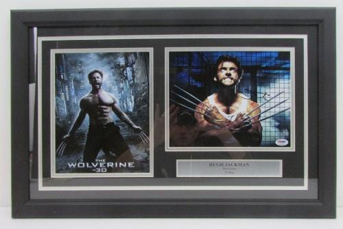 Hugh Jackman Wolverine Signed Framed 8x10 Photo Collage PSA/DNA AA32166