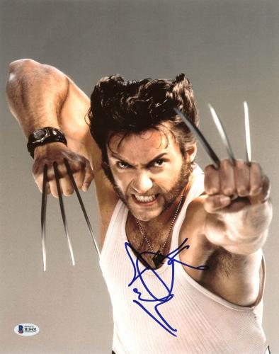 Hugh Jackman Wolverine X-Men Signed 11X14 Photo BAS #B18431