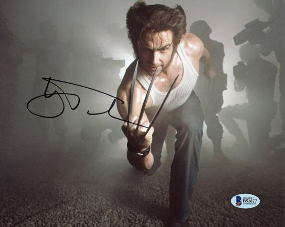 Hugh Jackman X-Men Wolverine Logan Signed 8x10 Photo BAS #B51677