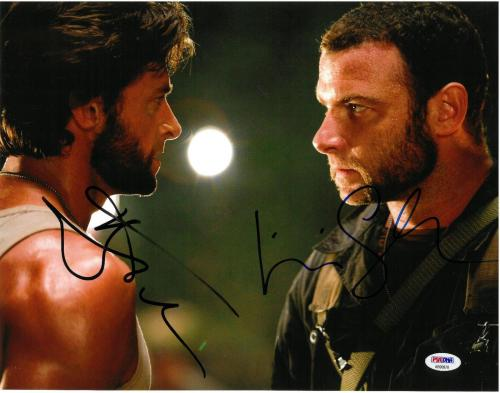 Hugh Jackman/Liev Schreiber Signed X-Men Autographed 11x14 Photo PSA/DNA AB90978