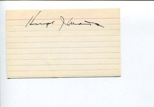 Hugh Wade Acting Governor of Alaska 1st Lieutenant Governor Signed Autograph