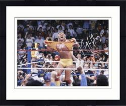"Framed Hulk Hogan Autographed 16"" x 20"" Hulkamania Photograph"