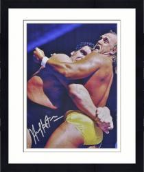 "Framed Hulk Hogan Autographed 16"" x 20""  vs. Andre The Giant Photograph"
