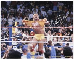 Hulk Hogan Autographed 16'' x 20'' Hulkamania Photograph - Mounted Memories