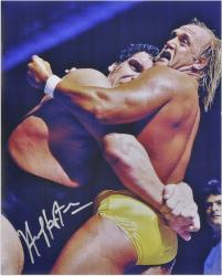 Hulk Hogan Autographed 16'' x 20''  vs. Andre The Giant Photograph - Mounted Memories