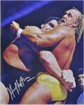 "Hulk Hogan Autographed 16"" x 20""  vs. Andre The Giant Photograph"