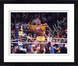 "Framed Hulk Hogan Autographed 8"" x 10"" Hulkamania Photograph"