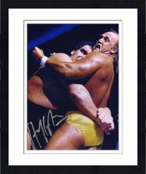 "Framed Hulk Hogan Autographed 8"" x 10""  vs. Andre the Giant Photograph"