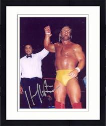 "Framed Hulk Hogan Autographed 8"" x 10"" with Muhammad Ali Photograph"