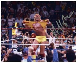 Hulk Hogan Autographed 8'' x 10'' Hulkamania Photograph - Mounted Memories