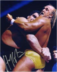 Hulk Hogan Autographed 8'' x 10''  vs. Andre the Giant Photograph - Mounted Memories