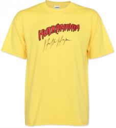 Hulk Hogan Autographed Hulkamania Yellow T-Shirt