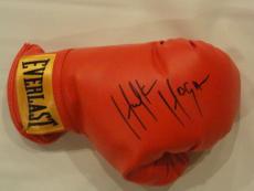 Hulk Hogan Signed Boxing Glove Wwf Wwe Exact Proof Rocky Thunderlips Legend