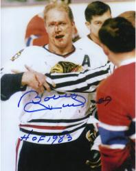 Bobby Hull Chicago Blackhawks Autographed 8'' x 10'' Bleeding Photograph