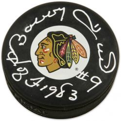 "Chicago Blackhawks Bobby Hull Autographed ""Hall of Fame 1983"" Puck"