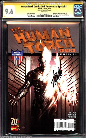 Human Torch Comics 70th Anniversary Special #1 Cgc 9.6 Ss Stan Lee #0248365020