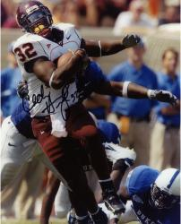 Cedric Humes Virginia Tech Hokies Autographed 8'' x 10'' vs. Duke Blue Devils Breaking Tackle Photograph