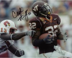 Cedric Humes Virginia Tech Hokies Autographed 8'' x 10'' vs. Louisville Horizontal Photograph