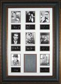 Humpfrey Bogart unsigned Hollywood Gangsters 25x38 Engraved Signature Series Leather Framed w/8 actors (movie/entertainment)
