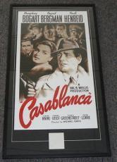 Humphrey Bogart Signed Framed 25x44 Casablanca Poster Photo Display JSA