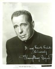 "Humphrey Bogart ""Sincerely"" Signed 8X10 B&W Publicity Photo BAS #A02048"