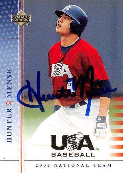 Hunter Mense autographed Baseball Card (Missouri Tigers, Team USA) 2005 Upper Deck Rookie #USA70