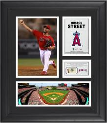 Huston Street Los Angeles Angels Framed 15'' x 17'' Collage with Piece of Game-Used Ball