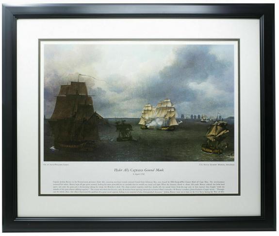 Hyder Ally Captures General Monk Framed 16x20 Historical Navy Photo