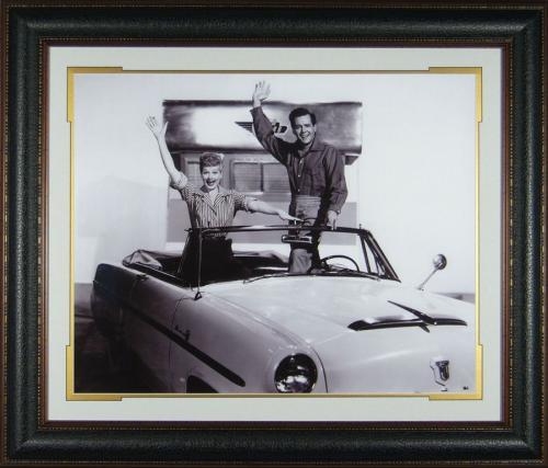 Lucille Ball & Desi Arnez I Love Lucy Framed Display