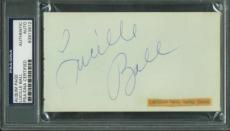 I Love Lucy Lucille Ball Signed Autographed 2x4 Album Page PSA/DNA Authentic