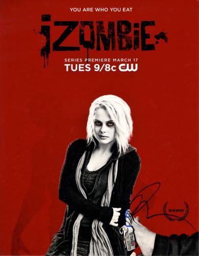 I Zombie Rose McIver Autographed 11x14 Promo Poster Photo AFTAL UACC RD COA