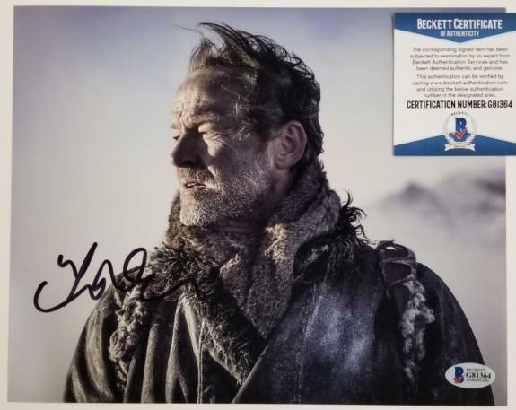 IAIN GLEN Signed Game of Thrones 8x10 Photo Jorah Mormont (B) ~ Beckett BAS COA