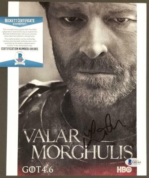 IAIN GLEN Signed Game of Thrones 8x10 Photo Jorah Mormont (C) ~ Beckett BAS COA