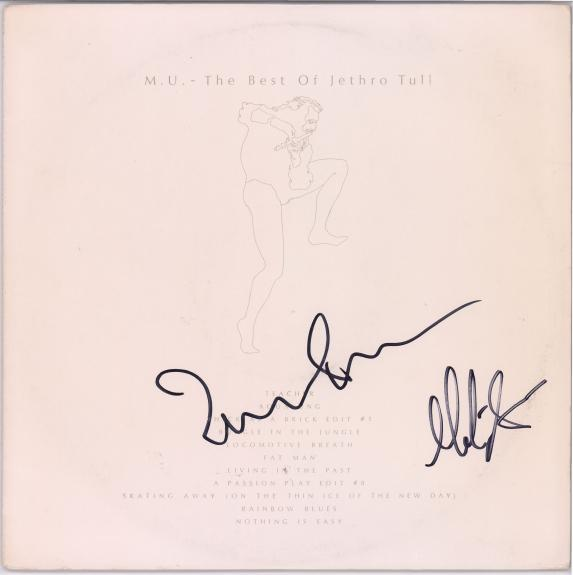 Ian Anderson and Martin Barre Jethro Tull Autographed Best Of Album - JSA