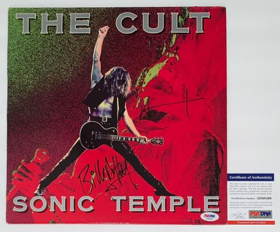 Ian Astbury & Billy Duffy Signed The Cult Sonic Temple Record Psa Coa Ad48366