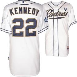 Ian Kennedy San Diego Padres Game Used White Jersey from 8/13/14 vs Colorado Rockies
