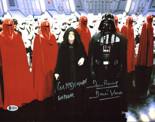 Ian McDiarmid & David Prowse Star Wars Signed 11X14 Photo BAS