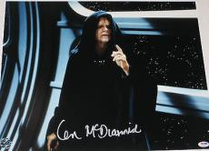 IAN MCDIARMID Signed STAR WARS RETURN OF THE JEDI Large 16x20 PHOTO Psa Dna