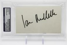 Ian Mckellan Signed 3x5 Card Lord Of The Rings Psa/dna Encapsulated 83508569