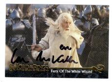 Ian McKellen autographed trading card (Gandalf Lord of the Rings) LOR #75