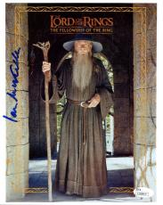 IAN MCKELLEN HAND SIGNED 8x10 COLOR PHOTO         LORD OF THE RINGS          JSA
