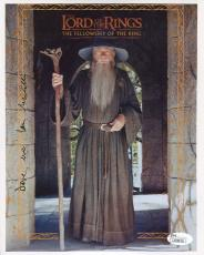 IAN MCKELLEN HAND SIGNED 8x10 PHOTO      LORD OF THE RINGS      TO DAVE      JSA