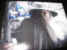IAN MCKELLEN SIGNED AUTOGRAPH 8x10 PHOTO THE HOBBIT LORD OF THE RINGS COA X4