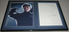 Ian McKellen Signed Framed 1984 Letter & Photo Display JSA Magneto X Men