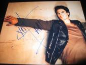 IAN SOMERHALDER SIGNED AUTOGRAPH 8x10 PHOTO VAMPIRE DIARIES IN PERSON PROMO NY D