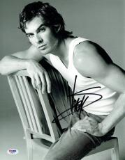 Ian Somerhalder Signed Vampire Diaries Autographed 11x14 Photo PSA/DNA #AA68715