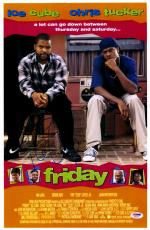 "Ice Cube Autographed 12"" x 18"" Friday Movie Poster - PSA/DNA"