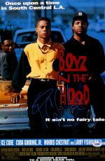 "Ice Cube & Cuba Gooding Jr. Autographed 12"" x 18"" Boyz n the hood Movie Poster - PSA/DNA"