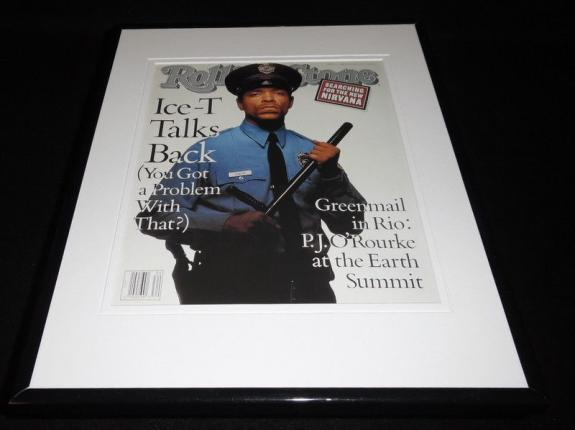 Ice-T 1992 Rolling Stone Framed Cover Display 11x14 Official RP
