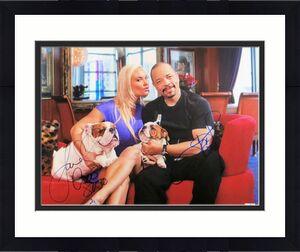 Ice T - Coco Austin Dual Autographed 11X14 Photo  Ice Loves Coco JSA CC88616
